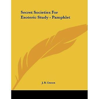 Salaseurat esoteerinen tutkimus - pamfletti