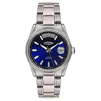 Rotary GB02660/05 Analog wrist watch, stainless steel band, silver