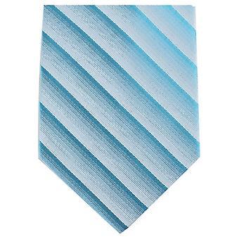 Knightsbridge Krawatten Shadow Stripe regelmäßige Polyester Krawatte - hellblau