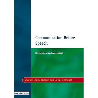 Communication Before Speech by OKane & Judith Coupe
