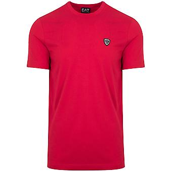 Ea7 Tango Red Shield Logo T-Shirt