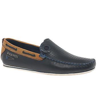 בוגאטי בנג Mens נעלי סירה עור