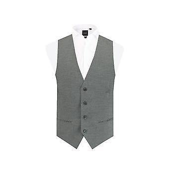 Dobell Mens Light Grey Waistcoat Slim Fit