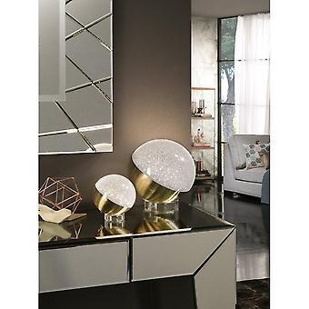 Schuller Sphere Bedside Table Lamp, 20cm, Brass