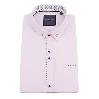 Guia de Londres puro algodão macio e leve textura camisa de manga curta