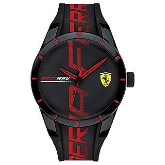 Scuderia Ferrari | Men's Redrev | Black/Red Silicone Strap | Black Dial | 0830614 Watch