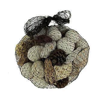 Neutral White Decorative Mushroom Mix Assorted Dried Botanicals In a Bag