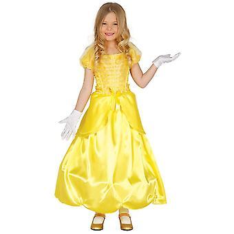 Mädchen gelb Prinzessin Märchen Kostüm