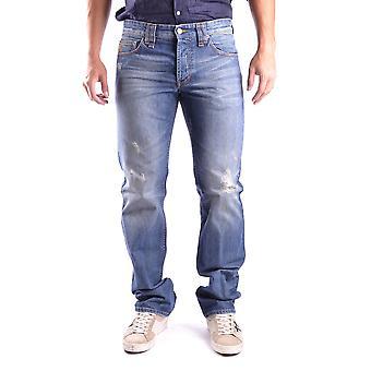 John Galliano Ezbc164049 Men's Blue Denim Jeans