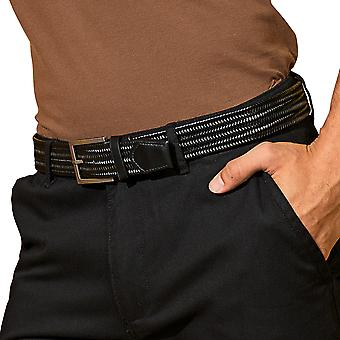 Outdoor-Look Mens Leder Adjustable Braid Belt