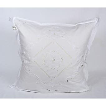Hossner parade pillowcase Ferrara Richelieu embroidery shabby cottage 80 x 80 cm