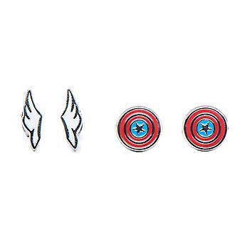Captain America Stud Earring Set