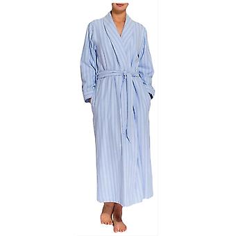 British Boxers Westwood Stripe Two Fold Flannel Robe - Blue