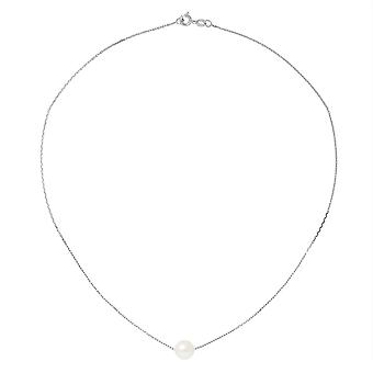 Ras du Cou Femme Necklace Chaine Forcat White Gold 750/1000 and Pearl of White Culture 8196