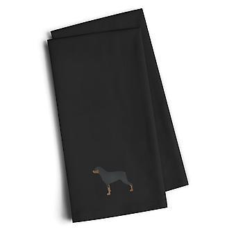 Ротвейлер черный Вышитые кухонные полотенца комплект из 2