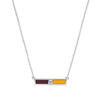 Loyola University Chicago Diamond Pendant Necklace In Sterling Silver Design by BIXLER