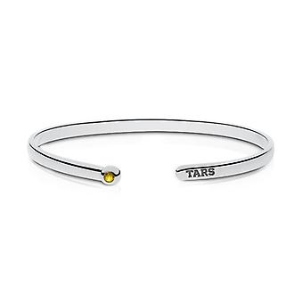 Rollins College Engraved Sterling Silver Yellow Sapphire Cuff Bracelet