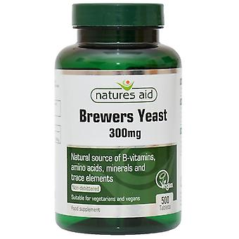 Nature's Aid Brewers Yeast 300mg Tablets 500 (11610)