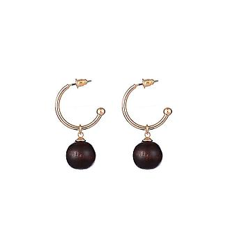 Jewelcity Sunkissed Womens/Ladies Hoop And Bead Earrings