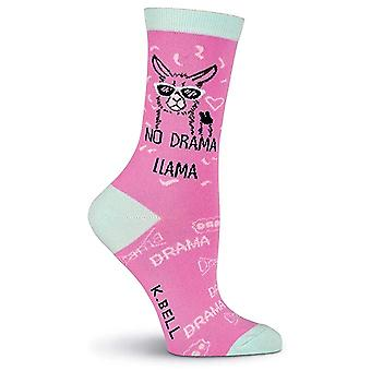 Chaussettes d'équipage femmes - K Bell - No Drama Pink (9-11)