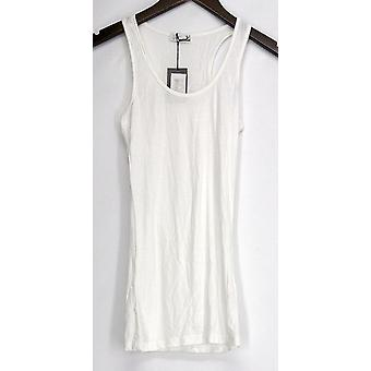 Agiato Jr Top Racerback Tank Sleeveless White Womens