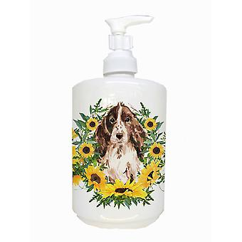 Brown Parti Cocker Spaniel Ceramic Soap Dispenser