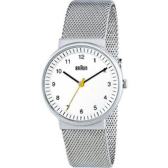 Braun classic lady Japanese Quartz Analog Women Watch with BN0031WHSLMHL Stainless Steel Bracelet