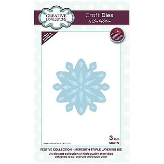Sue Wilson Die Set Meredith Triple Layering ( Collection Festive