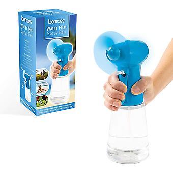 Benross Blue Water Mist Spray ventilateur portatif batterie sport bureau 400ml