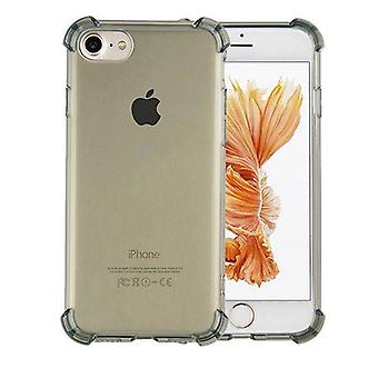 iPhone 8 Plus ja 7 Plus tapauksessa läpinäkyvä musta - iskunkestävä