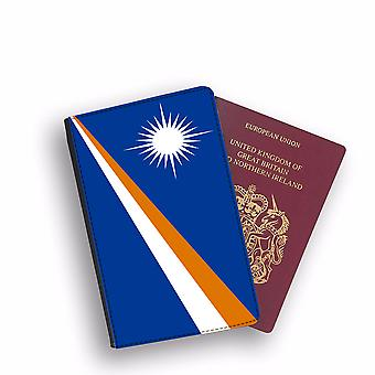 MARSHALL ISLANDS Flag Passport Holder Style Case Cover Protective Wallet Flags design