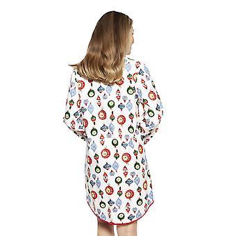 Cyberjammies 4260 Frauen's Belle weiß Mix Kugel Druck Baumwolle Nachthemd