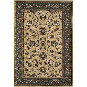 Ariana 311z3 ivory/blue indoor area rug square 8' sqr