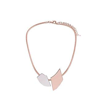 Fable Womens/Ladies Two Tone Geometric Necklace