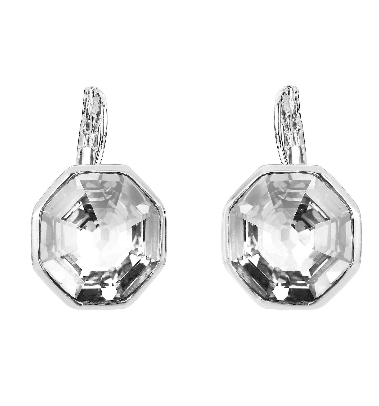 Traveller drop earring - Hexagon - rhodium palted - 156961