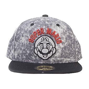 Super Mario Baseball Cap Biker Logo new Official Nintendo Snapback