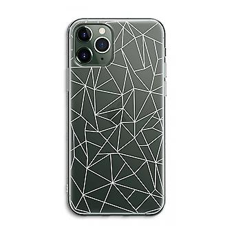 iPhone 11 Pro Max Transparent Case (Soft) - Geometric lines white