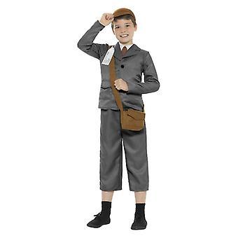 Chłopcy WW2 Evacuee chłopiec Fancy Dress kostium