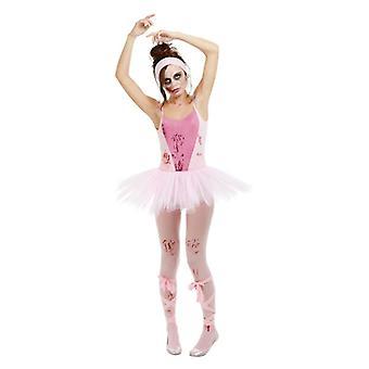 Womens Zombie Ballerina Fancy Kleid Kostüm