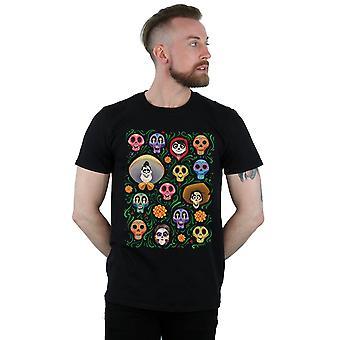 Disney miesten ' s Coco Heads Pattern T-paita