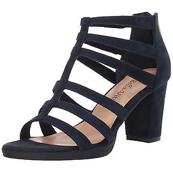 Bella Vita mujeres Leah cuero abierto de punta casual strappy sandalias