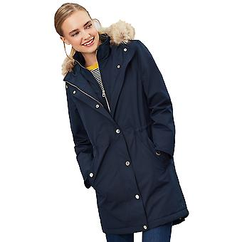 Giacca Joules Womens Kempton Hooded Drop TailA Cappotto