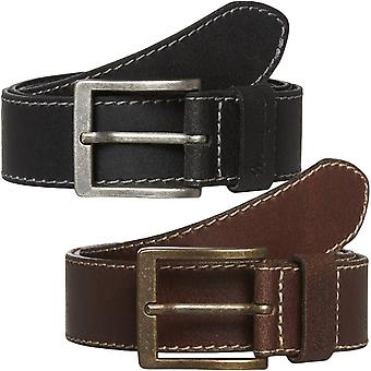Wrangler Mens Stitched Adjustable Leather Belt