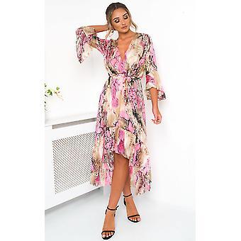 IKRUSH Womens Anya Printed Floaty Maxi Dress