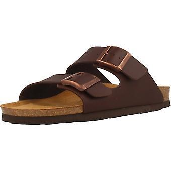 Gele winkel sandalen 78729 bruine kleur