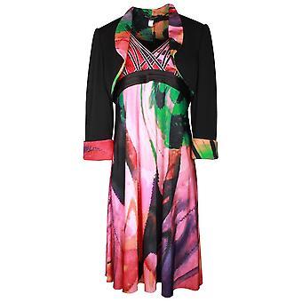 Ronald Joyce Multi Print Cocktail Dress & Bolero