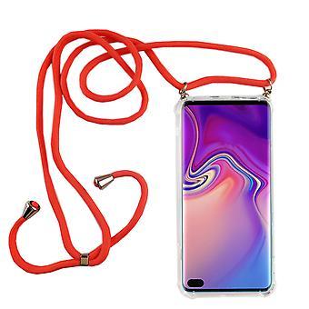 Handykette für Samsung Galaxy S10 Plus - Smartphone Necklace Hülle mit Band - Schnur mit Case zum umhängen in Pink
