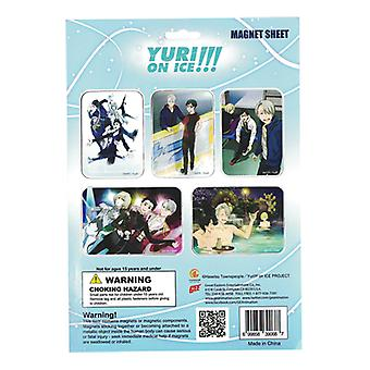 Magnet - Yuri On Ice - Group Sheet New Licensed ge39068
