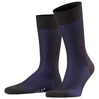 Falke fine Shadow uld sokker-sort/blå