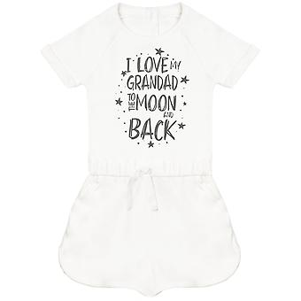 I Love My Grandad To The Moon And Back Baby Playsuit